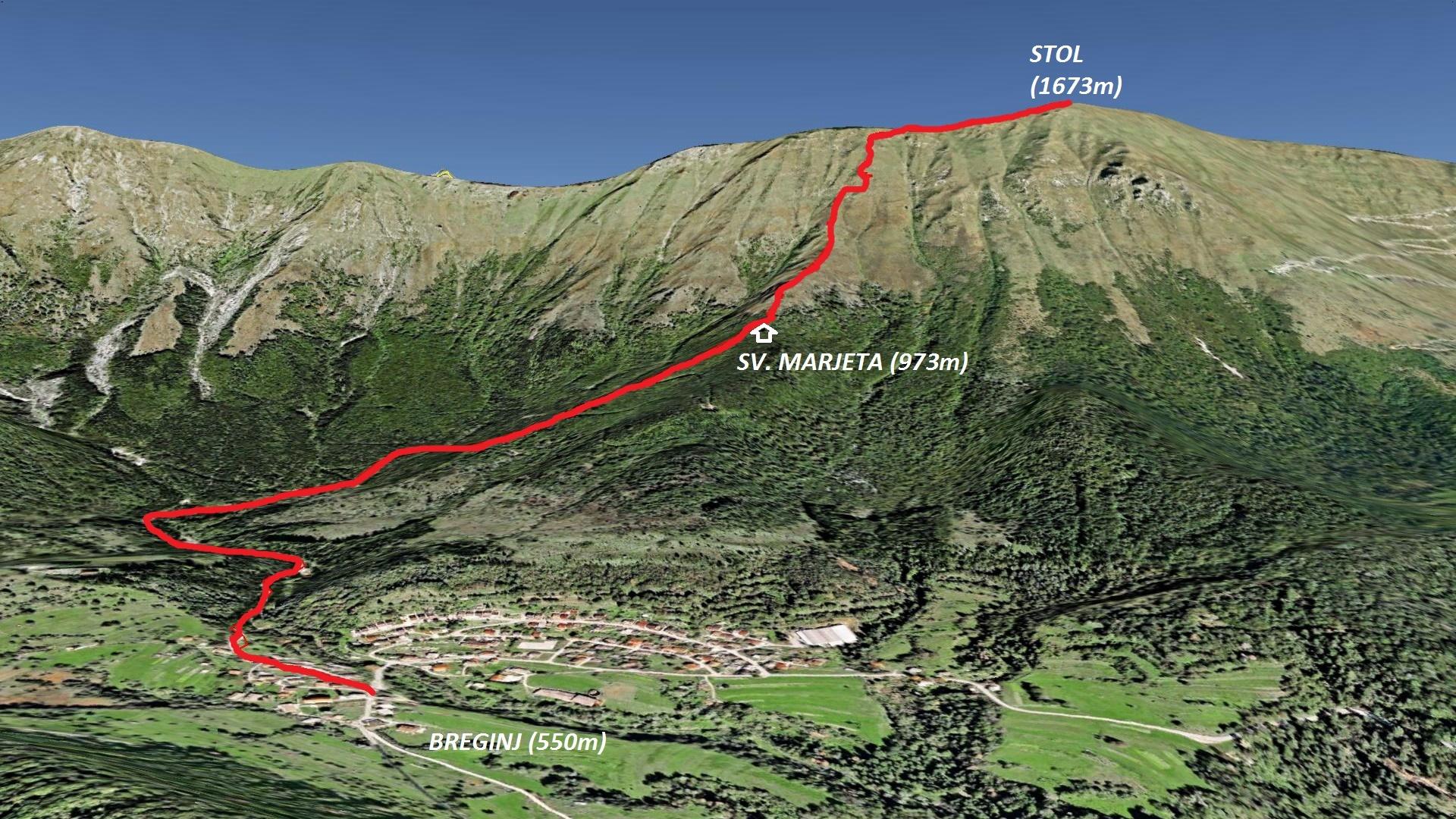 STOL (1673 m)  Planinsko društvo Kobarid