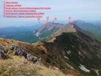 Pogled z vrha Stola (1673m) na najdaljši greben v Julijskih Alpah.