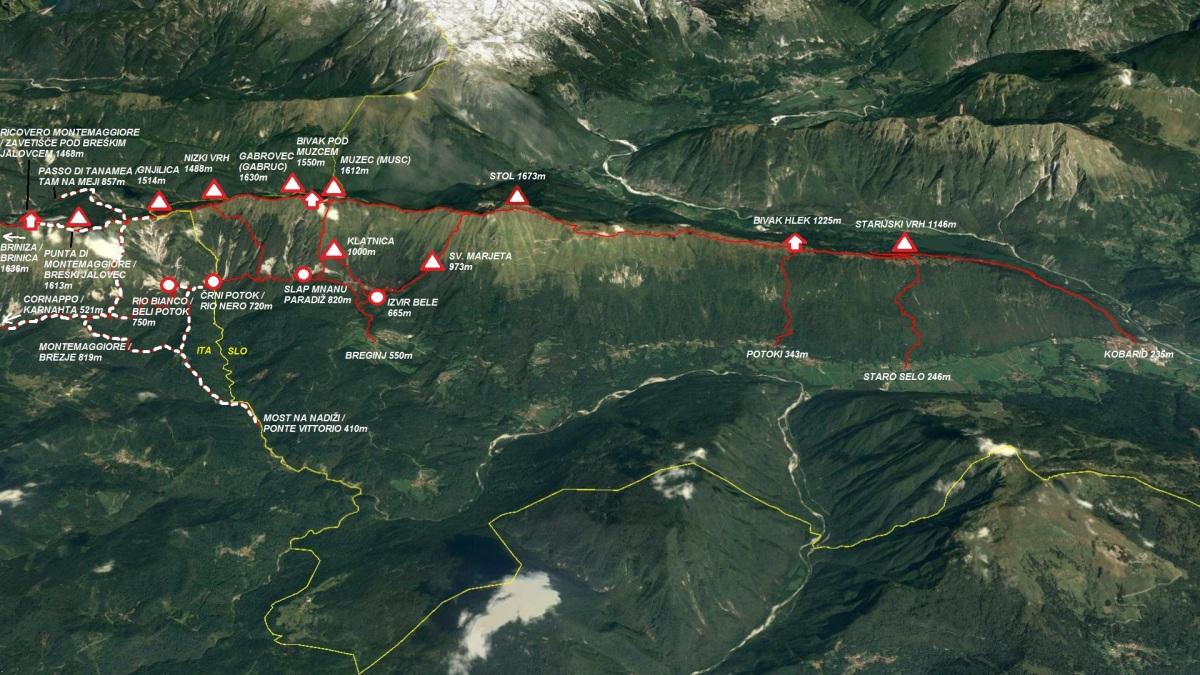 Planinske poti na pogorju Stola