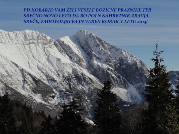 Vesele praznike ter srečno novo leto vam želi PD Kobarid!