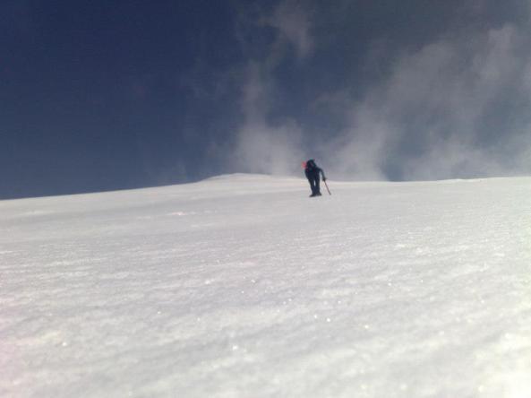 Zimski vzpon na Krn