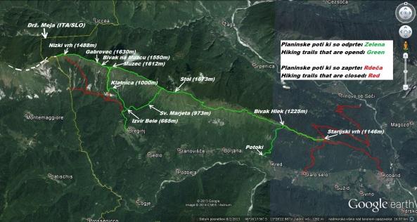 Planinske poti na grebenu Stola 24.03.2014