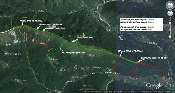 Stanje planinskih poti na grebenu Stola z dne 16.03.2014
