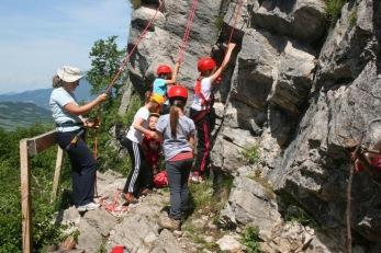Mladi plezalci