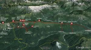 Planinske poti na pogorju Stola ki jih ureja PD Kobarid in odsek Breginj
