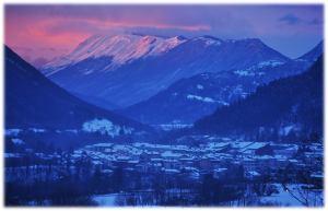 """Danes zvečer je """"gorelo"""" nebo nad dolino Soče."""