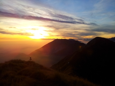 Na vrhu MuzcaMusca pogled na Karnijske Alpe