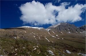 Pogled iz planine Kuhinja na Krn 12.04.2015